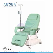 AG-XD206 hauteur réglable deux moteurs hôpital fauteuil de dialyse fabricant