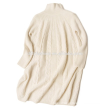 Meninas de pescoço de cashmere twist design malha camisola
