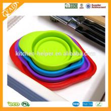 4 Tamaño 200ml Herramientas de horneado plegable suave grado alimenticio taza de medición de silicona, jarra de medición de silicona