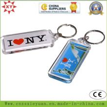 Custom Logo Transparent Plastic Key Chain
