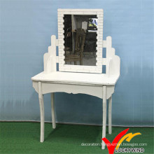 Kd New Vintage White Wood Dressing Table Design