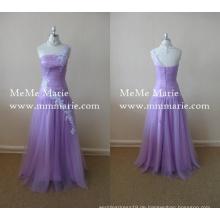 Damen Kleider Abend Partei eine Schulter Blume Chiffon lange Brautjungfer Kleider BYE-14017