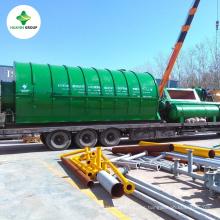 Proceso de planta de pirólisis de plástico a combustible