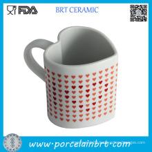 Heart Shape Heat Sensitive Ceramic Coffee Mug