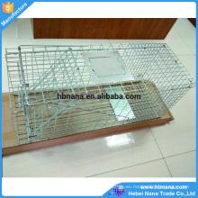 60x18x20cm galvanizaron la jaula de animal cruda plegable humana para las ventas
