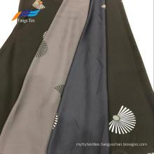 100% Polyester Nida Printed Formal Black Garment Fabric