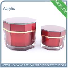 Nuevos frascos de acrílico de la crema de cara del embalaje cosmético al por mayor del diseño