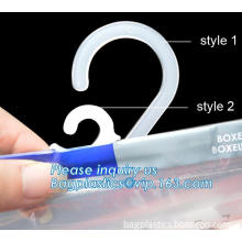 self-adhesive bag with hanger, ziplock stand bag with hanger, Resealable Zipper Aluminum Foil Stand up Clothes Underwear Tshirt