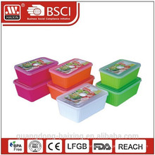 Aliments contenant de plastique rond micro-ondes ensemble 2pcs (1.65L/2.5L)