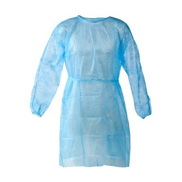 robe d'isolation jetable bleue