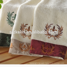 Europe style embroidered cotton bath towels