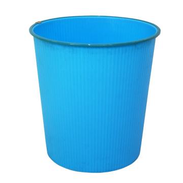 Boîte à ordures en plastique bleu ouvert (B06-930-3)