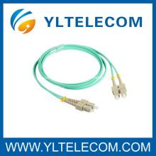 Sc de Duplex Multi-modo ao cabo de remendo da fibra do sc para FOS / LAN / FTTH
