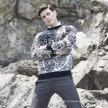 Cachemira tricô camisola padrão de neve