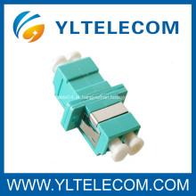 LC fibra óptica Adaptador, adaptador de fibra óptica LC Duplex Multimodo 10Gb OM3