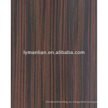 chapa de madera de bambú reconstruida de ingeniería