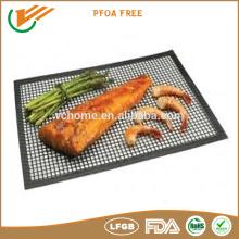 high Temperature resistance non stick teflon grill mesh pizza baking mesh crisp mesh
