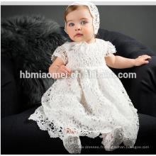 2017 Nouveau-Né Bébé Fille Baptême Dentelle Princesse 1er Anniversaire Tenues Infantile Festival Party Dress Baptême Tutu Robes