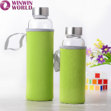 Promotional Airtight 1 Litre Glass Bottle With Thermal Sleeve
