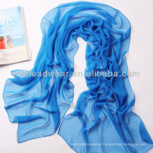 Chiffon Ladis Fashion Wholesale Solid Color Cooling Scarf for Hot Summer
