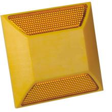 Solar reflektierende gelbe Kunststoff-Straße Stollen