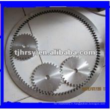 Bague dentée en alliage d'aluminium