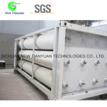 6 Long Tubes Skid Container Semi Trailer for Sale