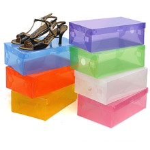 Clear Shoe Box/ Clear Plastic Shoe Boxes with Handle (mx-095)