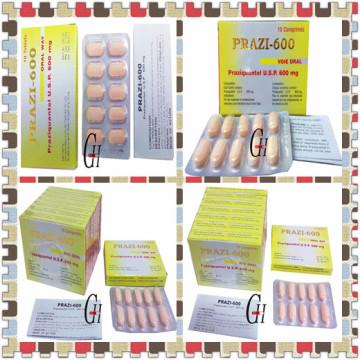 Tableta antiparasitaria de Praziquantel