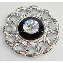 Clip Calzature metallizzate strass Flower Shapes
