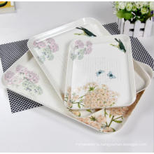 (BC-TM1006) Hot-Sell High Quality Reusable Colorful Melamine Tray