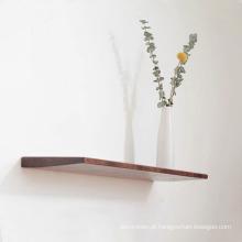 Prateleira flutuante de madeira maciça para suporte de parede