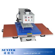 Máquina de transferencia de calor neumática de la máquina de la impresión de calor de las estaciones dobles