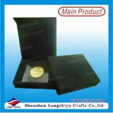 Alta qualidade personalizado 3d bronze antigo moeda com caixa de presente