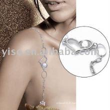 Bracelet en cuir de strass coeur