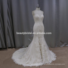 K506 lindo vestido de noiva de sereia e sereia