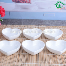 Custom white porcelain soy sauce dish