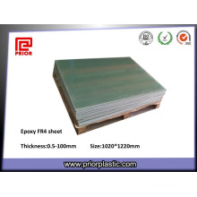 Folha verde da fibra de vidro da cola Epoxy da isolação Fr-4