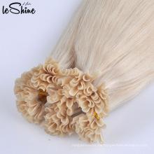 Pelo de Rusia 100% pelo humano remy inclino doble extensiones de cabello dibujado