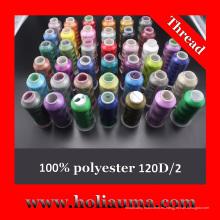 Hilo de poliéster bordado de alta calidad de uso de máquina Tajima