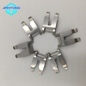 Clips de chapa de acero inoxidable de resorte plano