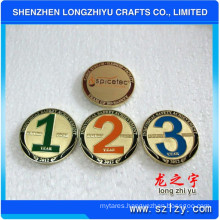 Gold Silver Copper Medal Collective Coins, Temple Commemorative Copper Medallion, Souvenir Embossed Logo Engraving Numbers Badge Coin