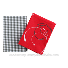 red terry tea towels