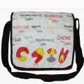 Student Messenger bag with watertight PVC lid