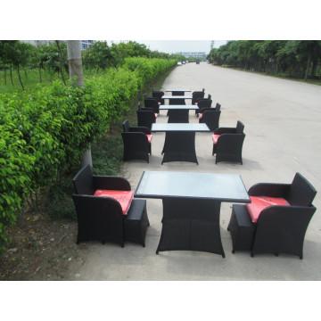 Мебель сада wicker Обедая установленная напольная мебель 820