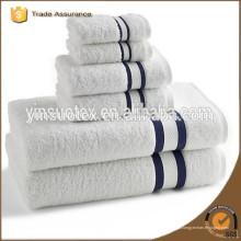 Dobby cetim 100% algodão branco toalha de banho hotel, 500g