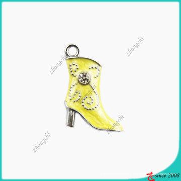 Breloque petite taille jaune Lady Boot (SPE)