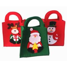 OEM Christmas Felt Candy Shopping Bag for Promotional Gift