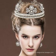 Beauté Reine Couronne et Ring Tiaras Hot Sale Real Diamond Tiaras