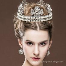 Tiaras da coroa e do anel da rainha da beleza Venda quente Tiaras reais do diamante